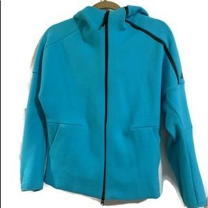 Adidas Blue zip up jacket size small
